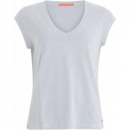 dame t-shirt v-hals lyseblå black colour