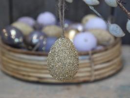 Chic Antique påskeæg i Sahara sun med guld