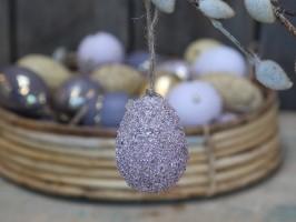 Chic Antique påskeæg i Sahara sun med perler