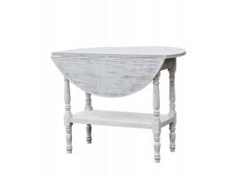 Rundt bord med hylde og klapbordplade fra Chic Antique