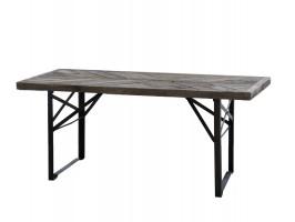 Chic Antique spisebord | Sort stel med træplade