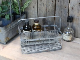 Flaskekurv i zink fra Chic Antique