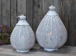 Chic Antique Fransk lanterne Antique hvid-20