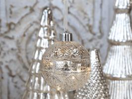 Chic Antique glaskugle med LED 51442-12
