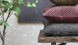 Velour pude fra Chic Antique