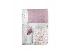 Chic Antique quilt med blomsterprint i antique rosa 16832-07