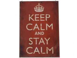 "Skilt ""Keep calm"" 31744-00 fra Chic Antique"