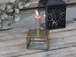 Chic Antique Stage i Messing & glas