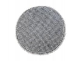 Rundt tæppe af 100% bomuld fra Chic Antique