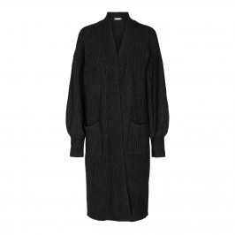 lang strik cardigan sort co couture
