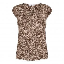 kortærmet damebluse leoprint co couture