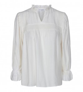 bluse med flæser off white co couture