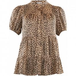 kortærmet bluse leopard continue