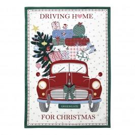 GreenGate Christmas car red viskestykke fra Winter 2019