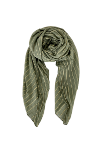 tørklæde med striber army black colour