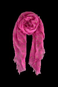 Tørklæde black colour pink med guld dots