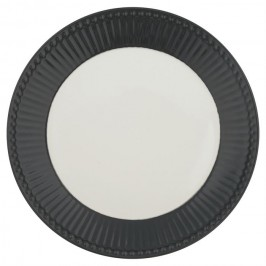 GreenGate Tallerken Alice dark grey Ø23-20