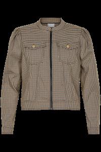 kort ternet jakke in front