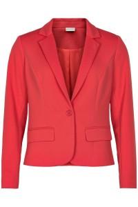 in front blazer jakke coral