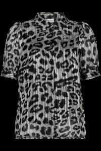 skjortebluse dyreprint grå in front