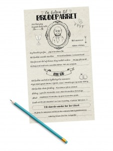 Fortrykte kort - En hilsen til brudeparret kort fra Mouse & Pen