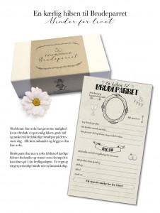En hilsen til brudeparret i æske fra Mouse & Pen