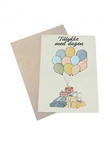 Mouse and Pen fødselsdagskort med kuvert | Tillykke med dagen