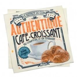 """Natives papirsserviet """"Café Croissant"""""""
