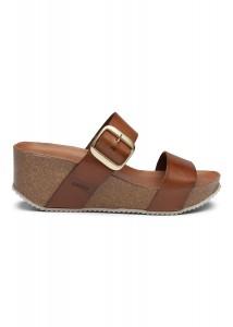 wedge sandal brun amust