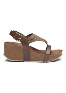wedge sandal taupe m. nitter amust