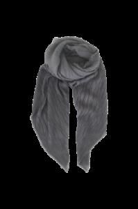 plisseret grå tørklæde