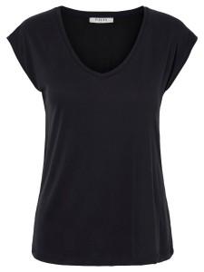 sort t-shirt med v-hals pieces