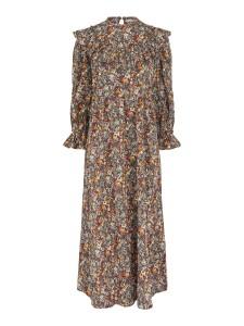 blomstret kjole med flæser pieces