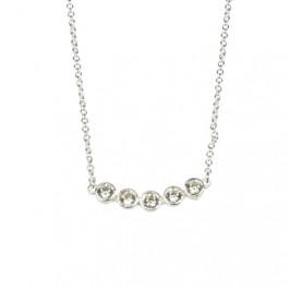 sølv halskæde med zirkoner pure by nat