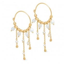 creol med perler og kæder guld pure by nat