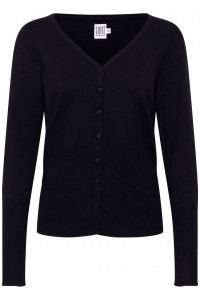 strik cardigan med v-hals sort saint tropez