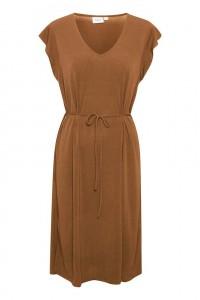 knælang kjole brun saint tropez