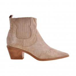 kort støvle cowboy look sand sofie schnoor