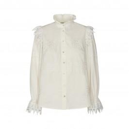 hvid skjortebluse med blondetaljer sofie schnoor