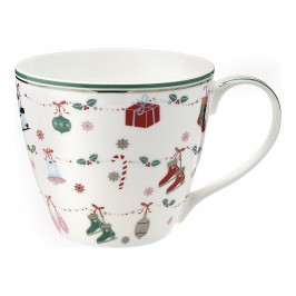 GreenGate Jingle bell white Krus med julemotiv