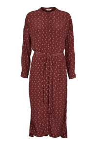 langærmet skjortekjole Bordeaux basic apparel