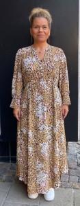 småblomstret lang kjole yas