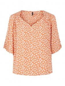 bluse med blomsterprint orange yas