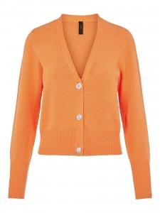 strik cardigan orange yas