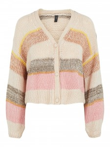 stribet strik cardigan yas