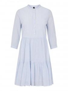 blå og hvidstribet kort kjole yas