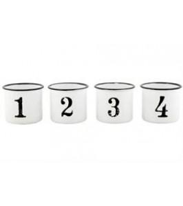Ib Laursen Emaljebæger hvide med sort kant 1-4-20