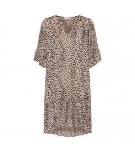 kort kjole leoprint continue