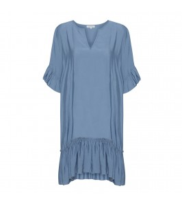 kort blå kjole continue