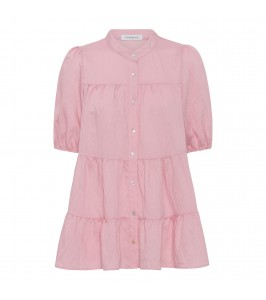 kortærmet bluse pink continue